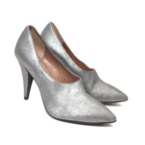 Sigerson Morrison Silver High Heel Booties